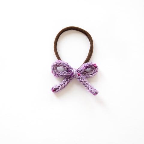 Hand-tied Crochet Bow - Emerson Purple