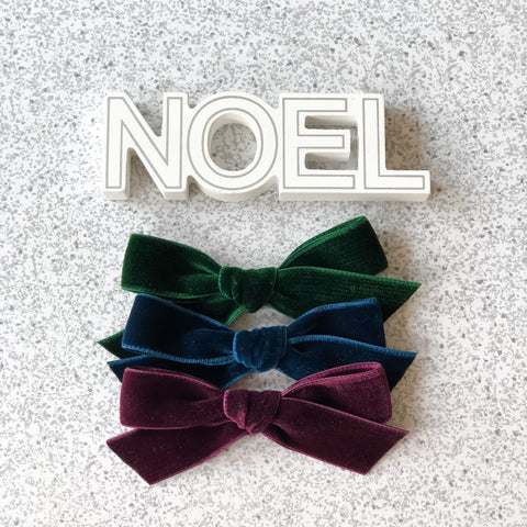 Valentina Velvet Ribbon Bow - Holiday Collection