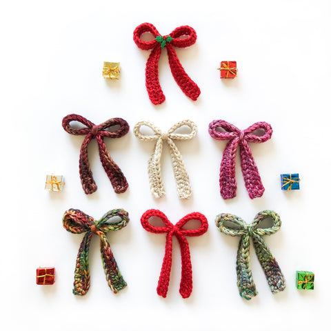 Crochet Bow - Holiday Collection