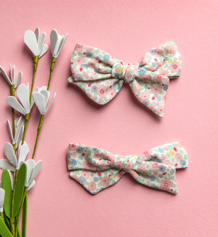 Cheska Floral Double Gauze Bow