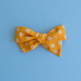 Clementine - Vintage Floral Flocked Bow - All Styles