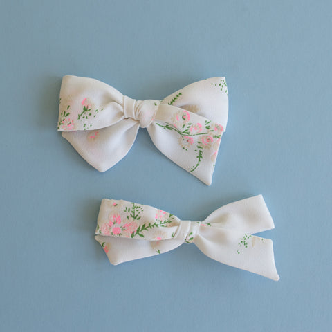 Annabelle - Vintage Floral Flocked Bow