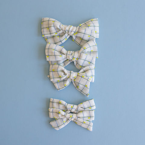 McCall - Vintage Dimity Flocked Bow - All Styles