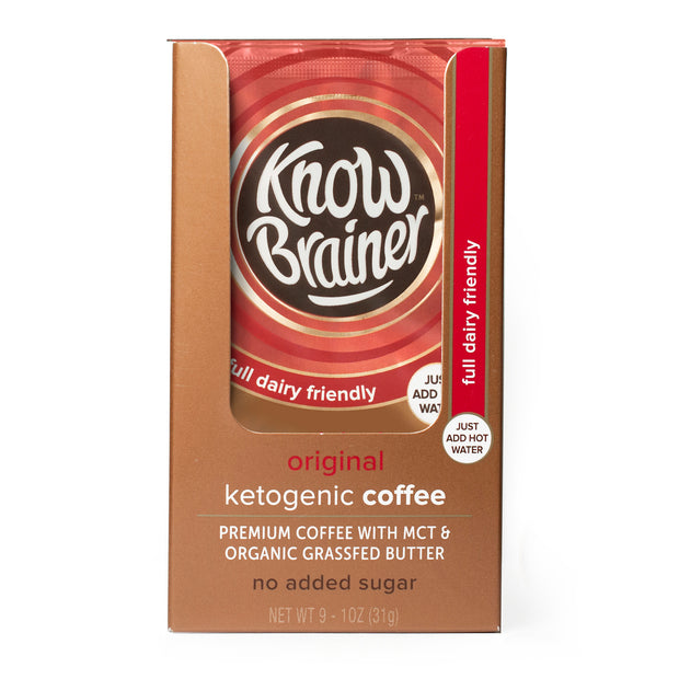 original ketogenic instant coffee - Know Brainer Foods