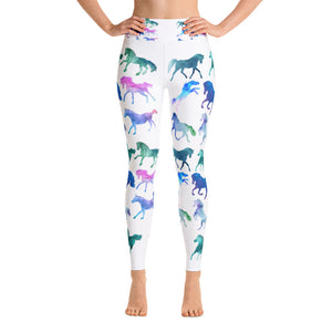 Rainbow Horses Yoga Leggings