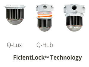 Energyficient Q-Lux LED New Construction Utility Light, Hub Included - 12W, 1200 Lumens, EnergyStar, 5000K