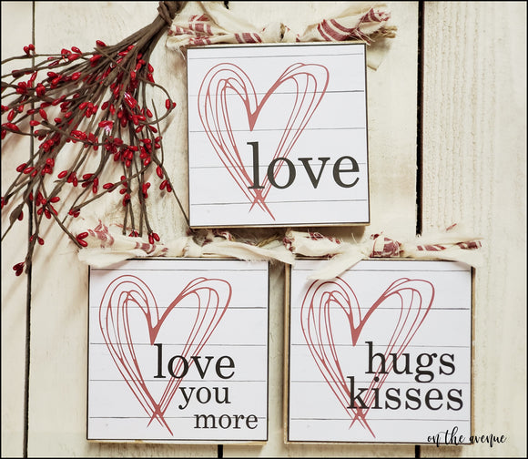 Hugs & Kisses Block Set