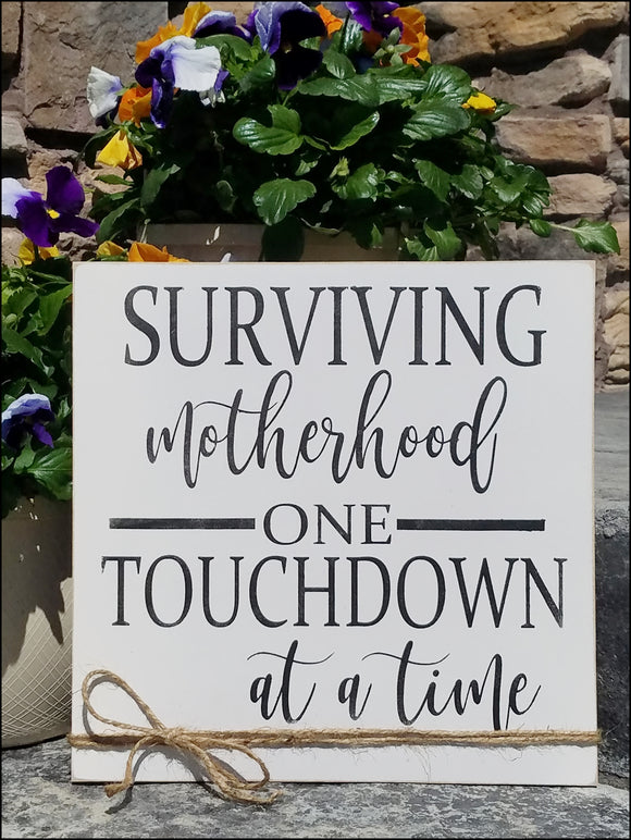 Surviving Motherhood One Touchdown At A Time