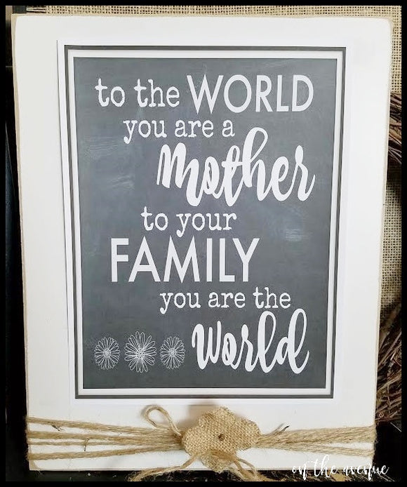 #5 - To The World - Mother Sign