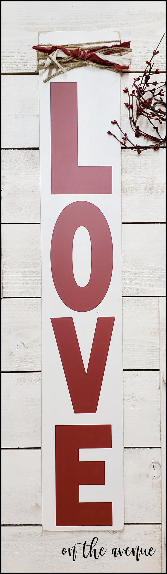 Rustic Tall LOVE - Valentine's Day Sign