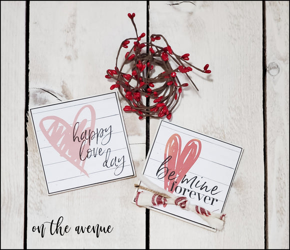 Happy Love Day/Be Mine Forever Block Set