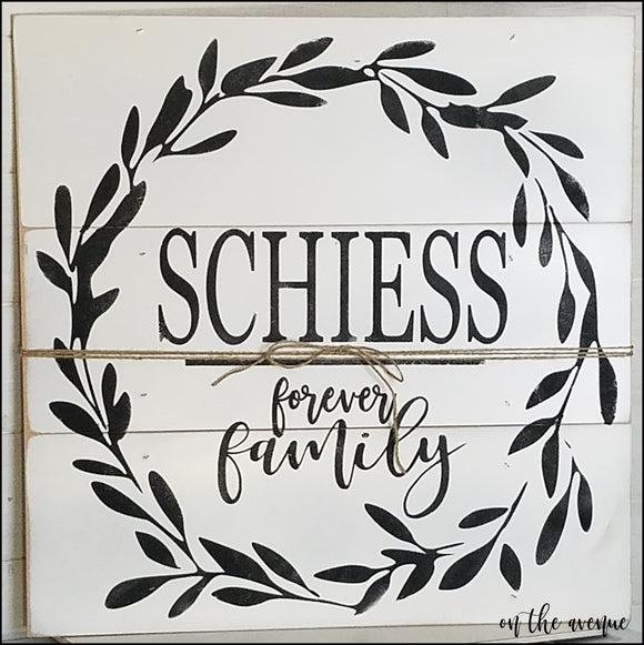 [Custom] Family Pieced Wood sign