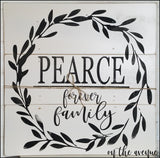 [Custom] Family Pieced Wood sign -Forever Family