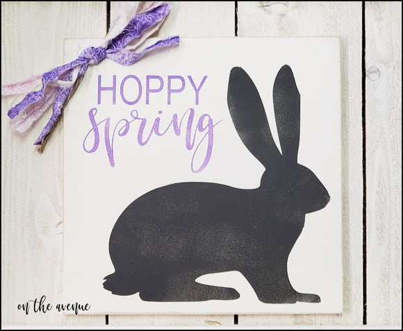 Hoppy Spring - Bunny Sign