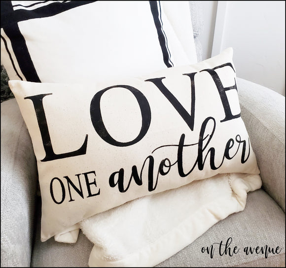 Love One Another - Stuffed Pillow
