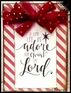 O Come Let Us Adore Him - Block Set of 2