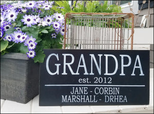 Grandpa Custom Sign