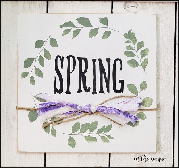 Spring Wreath Sign