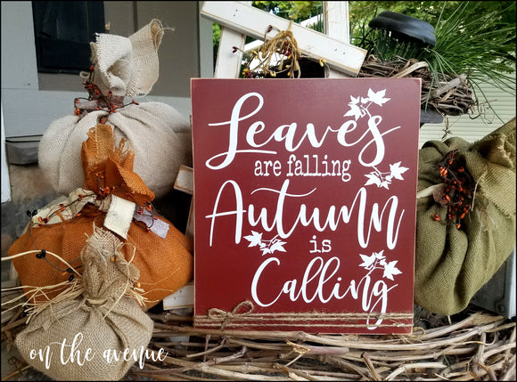 Leaves Are Falling - Autumn Is Calling