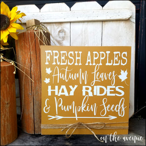 Fresh Apples/Autumn Leaves Sign