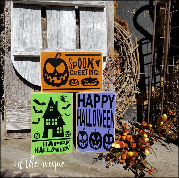 #8 - SPOOKY Greetings Halloween Block Set