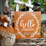 Hello Pumpkin - Autumn Sign