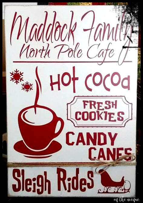 North Pole Cafe - Custom Name Sign