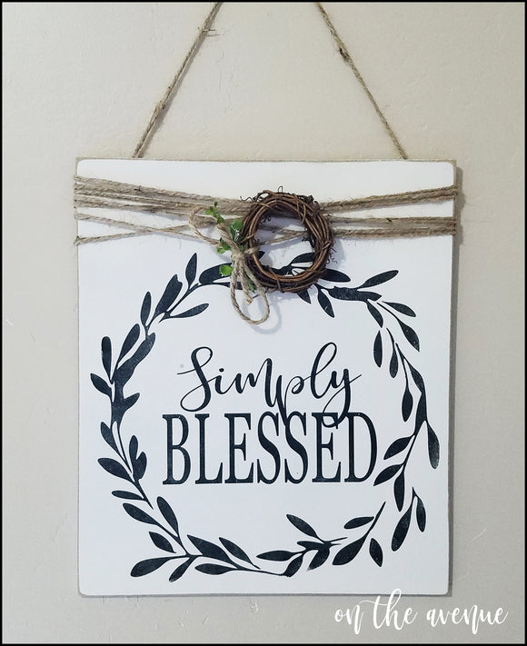 Simply Blessed ~ Wood Sign