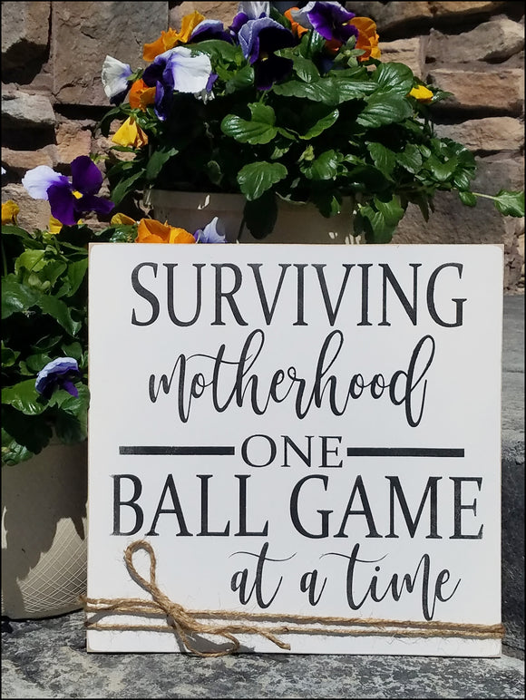 Surviving Motherhood One Ball Game At A Time