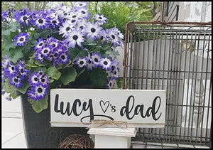 Lucy Loves Dad - Custom Name Block