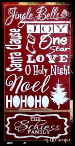 Jingle Bells Custom Name Sign
