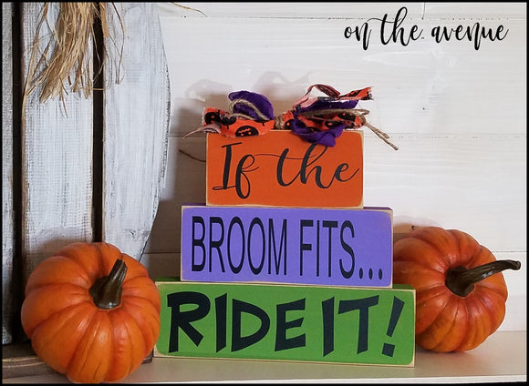 #10 - If The Broom Fits - Ride It Block Set