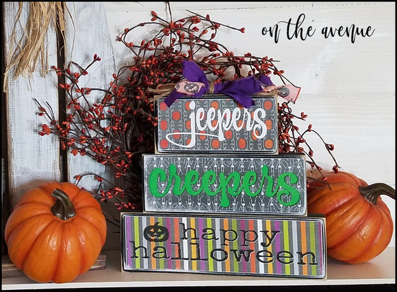 Jeepers, Creepers - Happy Halloween Block Set