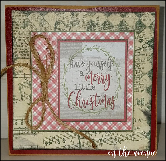 Have Yourself A Merry Little Christmas Block Set