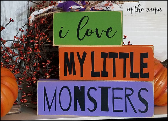 I Love My Little Monsters - Block Set