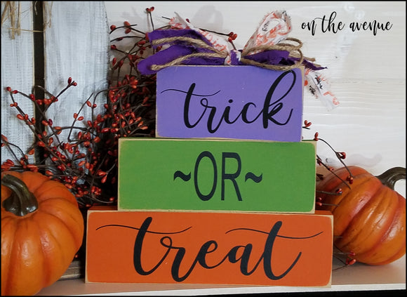 Trick Or Treat Block Set