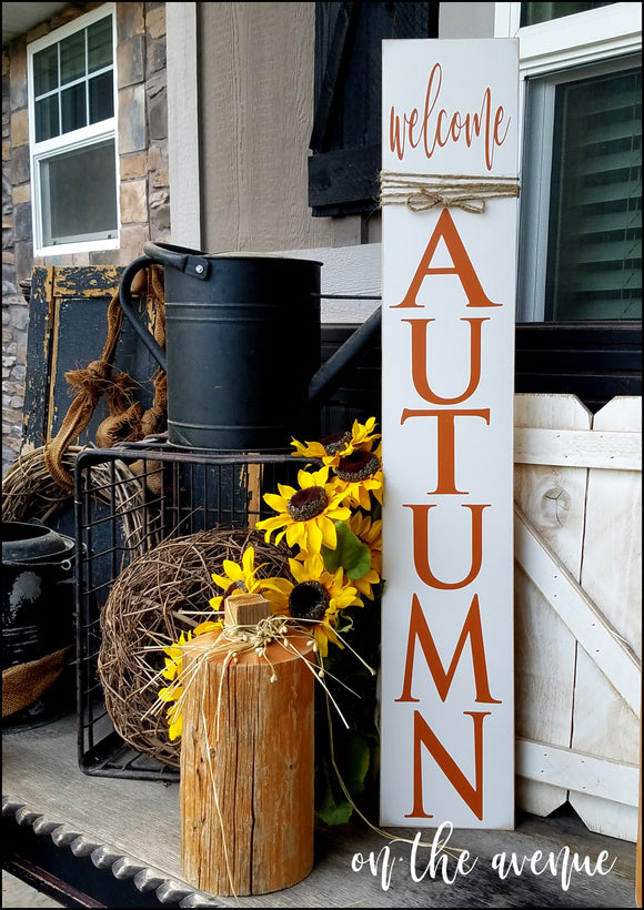 Welcome Autumn Tall Sign