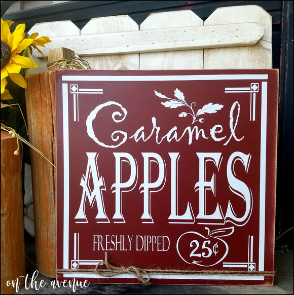 Caramel Apples Sign