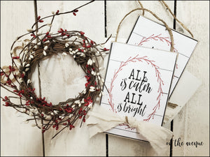 All Is Calm All Is Bright - Ornament Set (2)