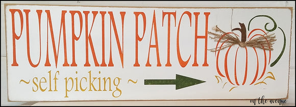 Rustic Pumpkin Patch Fall Sign
