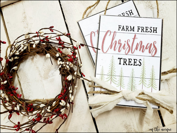 #12 - Farm Fresh Christmas Trees - Ornament Set (2)