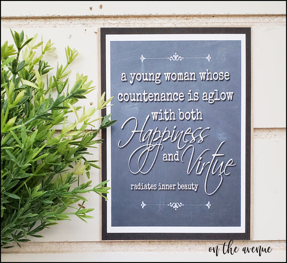 Happiness & Virtue - Mini Sign
