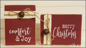 Comfort & Joy and Merry Christmas Block Set