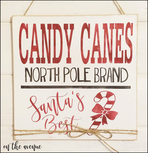 Candy Canes North Pole Brand