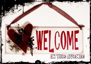 Welcome Heart Ornament Door Hanger
