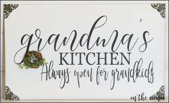 Grandma's Kitchen Sign