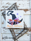 Happy Halloween Witch Hat Door Hanger