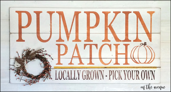 PUMPKIN PATCH - Locally Grown, Pick Your Own