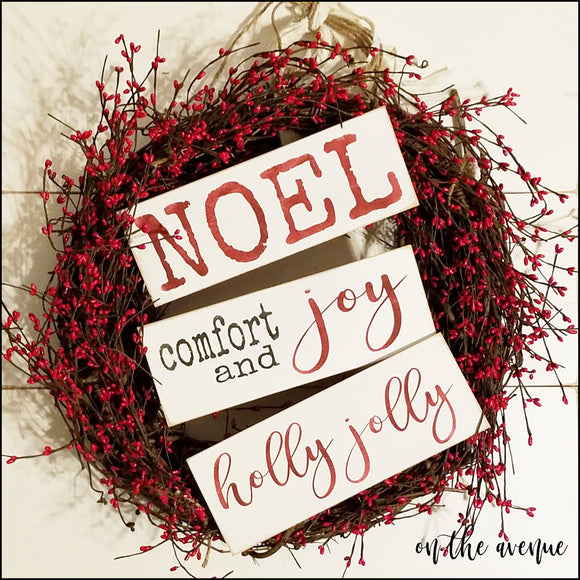NOEL/Comfort & Joy - Block Set (3)