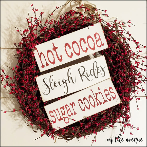 Hot Cocoa/ Sleigh Rides - Tree Ornament Signs